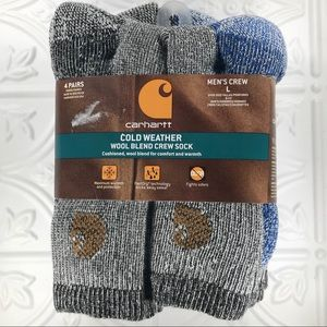 4pr Carhartt Cold Weather Wool Blend Crew Socks